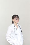 Intelligent Asian woman doctor Stock Image