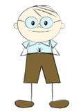 Intelligent boy. Cute intelligent boy with glasses vector illustration