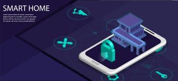 Intelligent Building, smart home concept vector illustration