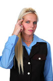 Intelligent businesswoman royalty free stock photo