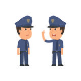 Intelligent Character Officer learns and gives advice to his fri. End. Poses for interaction with other characters from this series Stock Photography