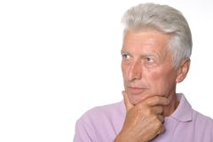 Intelligent elderly man Royalty Free Stock Photos