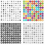 100 intelligent icons set vector variant. 100 intelligent icons set vector in 4 variant for any web design isolated on white Royalty Free Stock Photo