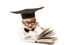Intelligent kid Royalty Free Stock Image