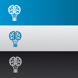 Intelligent labels. Brain shaped lamp successful expression Royalty Free Stock Photos