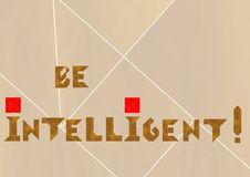 Intelligent logo - cdr format Stock Image