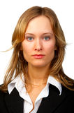 Intelligent looking female. Royalty Free Stock Images
