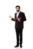 Intelligent man with big pencil. Stock Photography