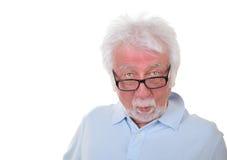 intelligent manwhite för bakgrund Fotografering för Bildbyråer