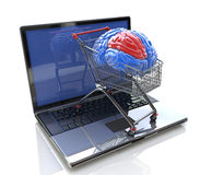 Intelligent Online Shopping Stock Photography