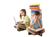 Intelligent pupils Royalty Free Stock Images