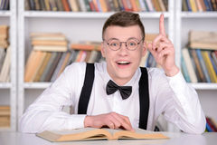 Intelligent student Arkivfoto