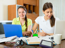 Intelligent students preparing for exam Royalty Free Stock Photos