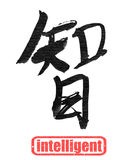 Intelligent, traditional chinese calligraphy Stock Photos