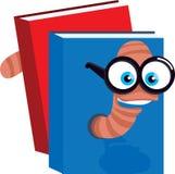 Intelligente Bücherwurm-Abbildung Stockbilder