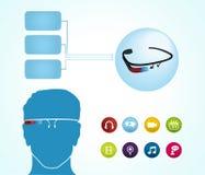 Intelligente Gläser apps Stockfoto