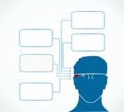Intelligente Gläser infographic Lizenzfreies Stockbild