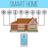 Intelligente Hausillustration Lizenzfreies Stockbild