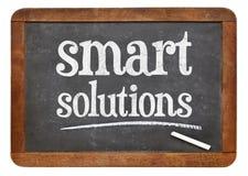Intelligente Lösungen - Tafelzeichen Lizenzfreie Stockbilder