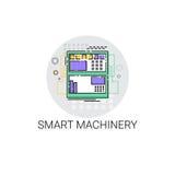 Intelligente Maschinerie-industrielle Automatisierungs-Industrie-Produktions-Ikone Lizenzfreie Stockfotografie