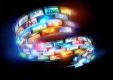 Intelligente Medien-Welt Lizenzfreies Stockbild