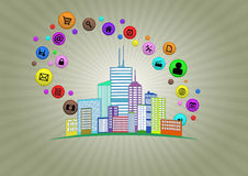 Intelligente Stadt stock abbildung