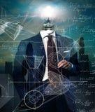 Intelligente Stadt des Geschäftsmannes - Konzept lizenzfreie stockbilder