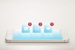 Intelligente Telefon-Anwendungen stockfotos