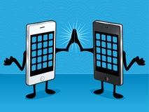 Intelligente Telefon-Freunde Stockbild