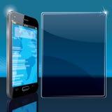 Intelligente Telefon-Plakat-Schablone Stockbilder