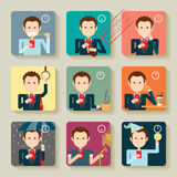 Intelligente Telefon Sucht Infographics Stockfotos