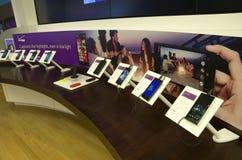 Intelligente Telefone Nokias in Microsoft-Speicher Lizenzfreies Stockfoto