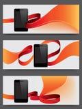 Intelligente Telefonförderungfahnen Stockfotografie
