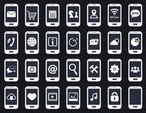 Intelligente Telefonikonen lizenzfreie abbildung