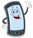 Intelligente Telefonkarikatur Stockfotografie