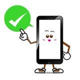 Intelligente Telefonkarikatur 003 Lizenzfreies Stockbild