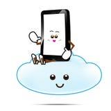 Intelligente Telefonkarikatur 011 Lizenzfreies Stockbild