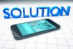 Intelligente Telefonlösung vektor abbildung