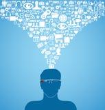 Intelligente tragbare Gerätglastechnologie Lizenzfreies Stockbild