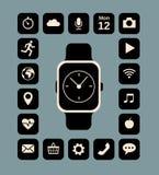 Intelligente Uhr lizenzfreie abbildung