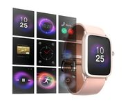 Intelligente Uhr auf weißem Hintergrund Stockfotografie