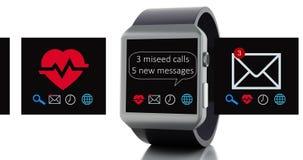 intelligente Uhr 3d Digital 4K lizenzfreie abbildung