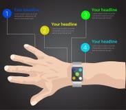 Intelligente Uhr infographic Lizenzfreies Stockfoto