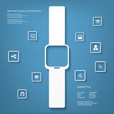 Intelligente Uhrkonzept-Vektorillustration Stockfotografie