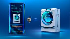 Intelligente Waschmaschine Stockbilder
