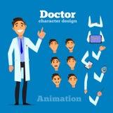 Intelligenter Doktor p, Satz für Animation Stockfotos