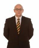 Intelligenter Geschäftsmann mit Gläsern Stockbilder