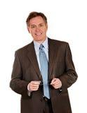 Intelligenter Geschäftsmann mit Lächeln Stockfotos