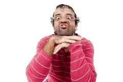 Intelligenter hässlicher Mann Stockbilder