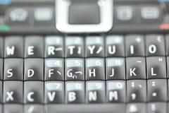 Intelligenter Telefon-Tastaturblock-QWERTYabschluß oben Lizenzfreie Stockfotos